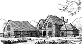 European Traditional House Plan 90325 Elevation