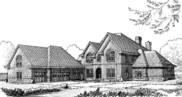 European, One-Story, Traditional House Plan 90325 with 5 Beds, 6 Baths, 3 Car Garage Elevation