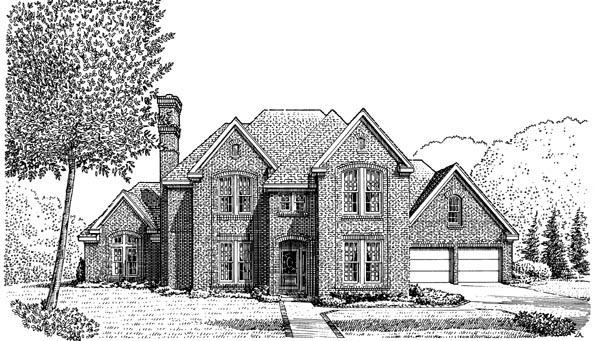 European House Plan 90326 Elevation