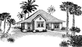 Plan Number 90329 - 1207 Square Feet