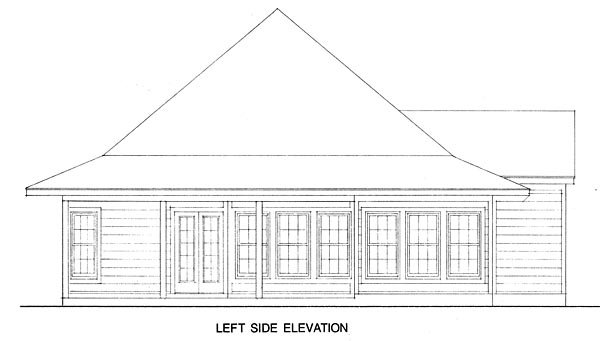 Contemporary, Cottage House Plan 90329 with 3 Beds, 2 Baths Picture 1