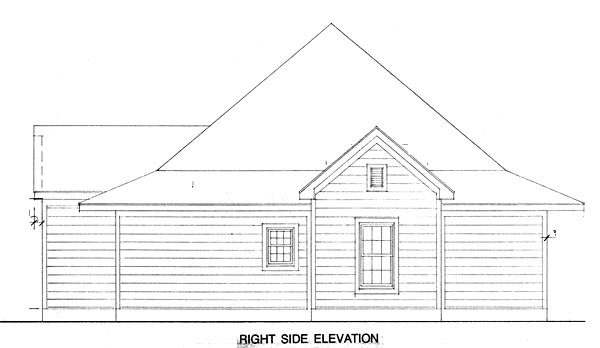 Contemporary, Cottage House Plan 90329 with 3 Beds, 2 Baths Picture 2