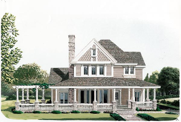 Country Farmhouse Victorian House Plan 90331 Elevation