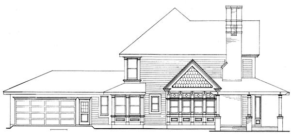 Country Farmhouse Victorian House Plan 90331