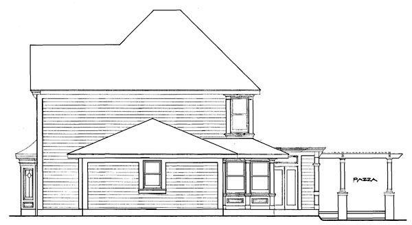 Country Farmhouse Victorian House Plan 90331 Rear Elevation