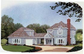 Country Craftsman House Plan 90332 Elevation