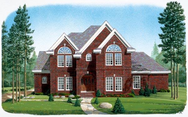 Contemporary European House Plan 90335 Elevation