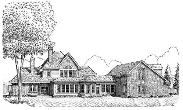 Contemporary European House Plan 90335 Rear Elevation