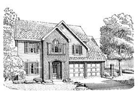 European House Plan 90336 Elevation