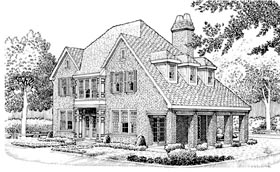 House Plan 90337 | Country European Style Plan with 2036 Sq Ft, 3 Bedrooms, 3 Bathrooms, 2 Car Garage Elevation