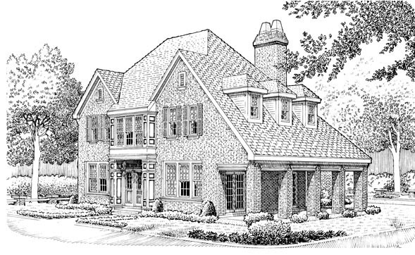 Country European House Plan 90337 Elevation