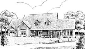 Country Farmhouse Victorian House Plan 90338 Elevation
