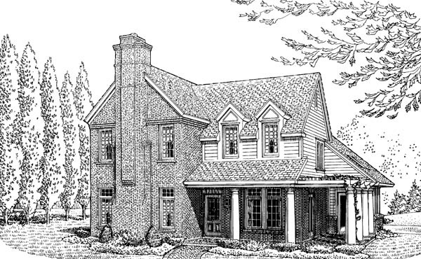Country Farmhouse House Plan 90343 Elevation