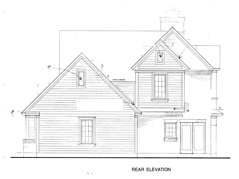 Country Farmhouse House Plan 90343 Rear Elevation