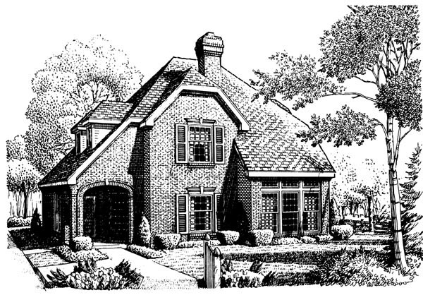 Country European House Plan 90345 Elevation