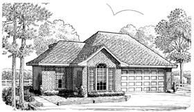 European House Plan 90346 Elevation