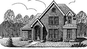 European House Plan 90350 Elevation
