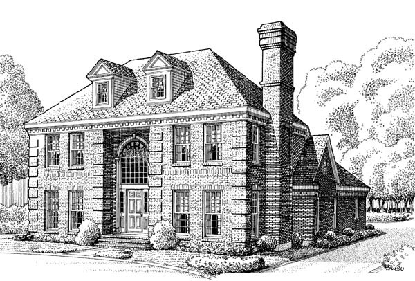 Colonial House Plan 90351 Elevation