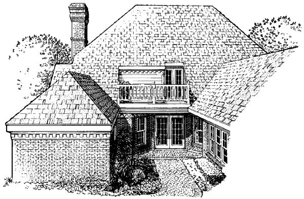 Colonial House Plan 90351 Rear Elevation