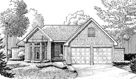 Contemporary European House Plan 90352 Elevation
