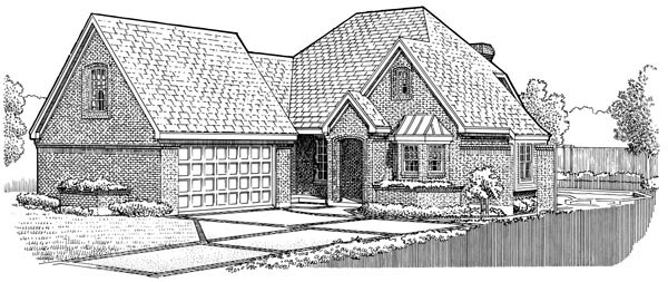 European Traditional House Plan 90354 Elevation