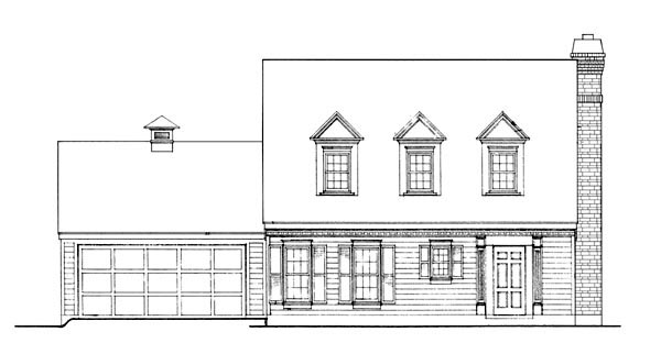 Cape Cod, Contemporary House Plan 90355 with 3 Beds, 2 Baths, 2 Car Garage Picture 1