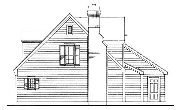 Cape Cod, Contemporary House Plan 90355 with 3 Beds, 2 Baths, 2 Car Garage Picture 2