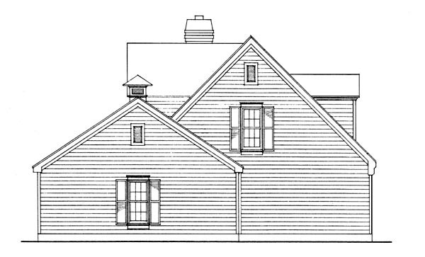 Cape Cod, Contemporary House Plan 90355 with 3 Beds, 2 Baths, 2 Car Garage Picture 3