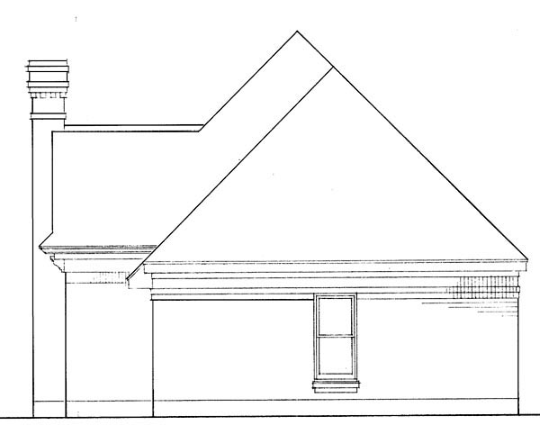 Cabin, Contemporary, Craftsman, European, One-Story House Plan 90356 with 2 Beds, 2 Baths, 2 Car Garage Rear Elevation