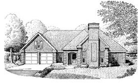 Contemporary European Traditional House Plan 90358 Elevation