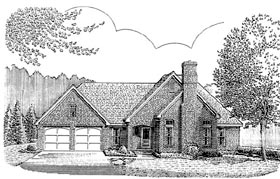 European Traditional House Plan 90361 Elevation