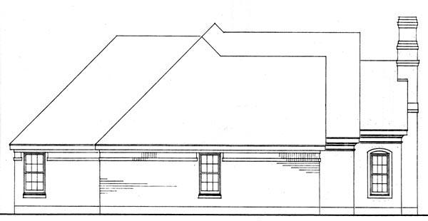 European Traditional House Plan 90361