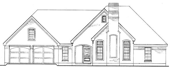 European, One-Story, Traditional House Plan 90361 with 3 Beds, 2 Baths, 2 Car Garage Picture 4