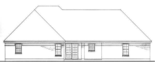 European Traditional House Plan 90361 Rear Elevation
