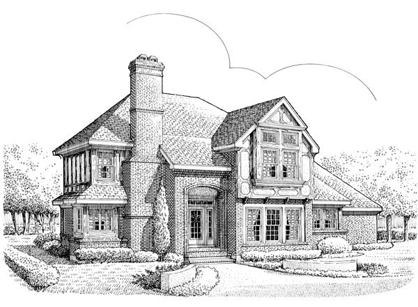 Tudor House Plan 90363 Elevation