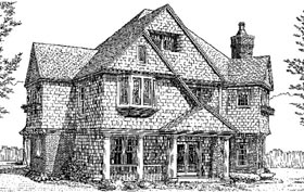 Country Craftsman House Plan 90367 Elevation