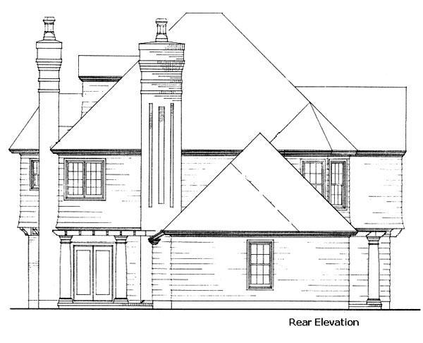 Country Craftsman House Plan 90367 Rear Elevation