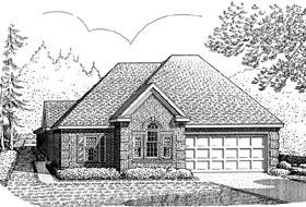 Contemporary Craftsman European House Plan 90369 Elevation