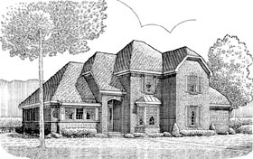 Tudor House Plan 90371 Elevation