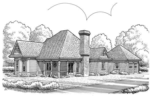 Country European House Plan 90379 Elevation