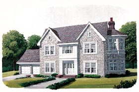 Craftsman House Plan 90380 with 4 Beds, 3 Baths, 2 Car Garage Elevation