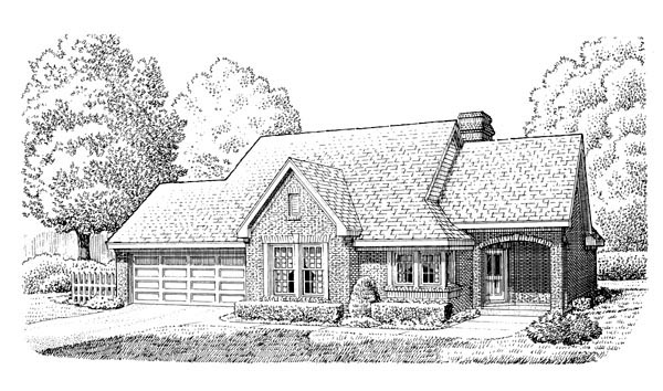 Contemporary Country European House Plan 90383 Elevation