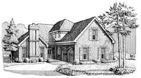 European House Plan 90384 Elevation