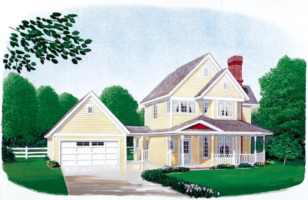 Country Farmhouse House Plan 90388 Elevation
