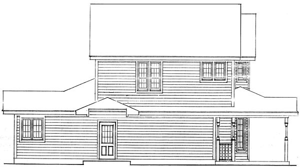Country, Farmhouse, Narrow Lot House Plan 90388 with 3 Beds, 3 Baths, 2 Car Garage Picture 2