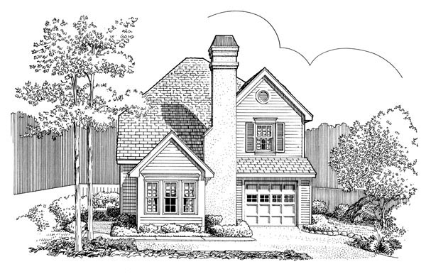 Traditional House Plan 90389 Elevation