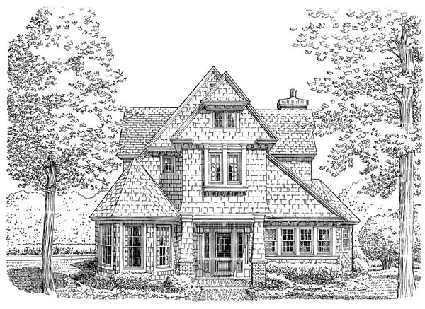 Cottage Craftsman Victorian House Plan 90391 Elevation