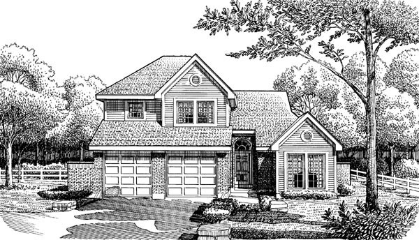 House Plan 90392 Elevation