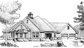 House Plan 90393 | European Style Plan with 2705 Sq Ft, 3 Bedrooms, 3 Bathrooms, 2 Car Garage Elevation