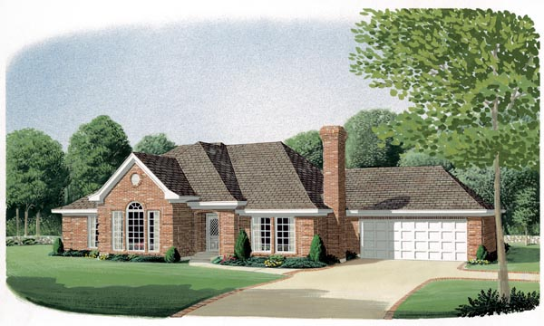 European Traditional House Plan 90394 Elevation